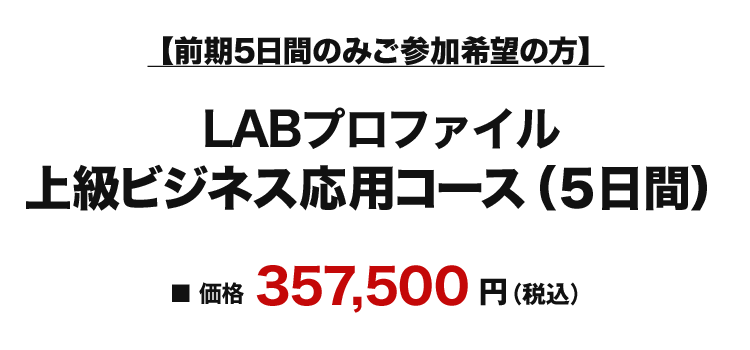 LABプロファイル 上級ビジネス応用コース