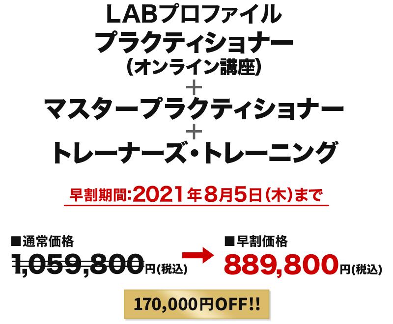 LABプロファイルプラクティショナー(オンライン講座)+マスタープラクティショナー+トレーナーズ・トレーニング
